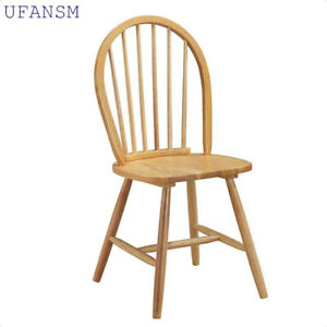 UFANSM Retro Solid Wood Chair Dining Chair Nordic Home Simple Chair
