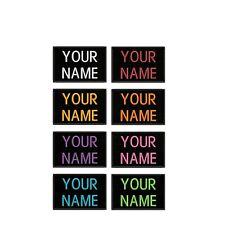 "Iron-On Custom Embroidered Name Patch, Name Tag,Name Badge Rectangular 3X2"""