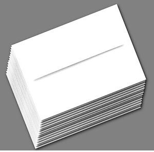 100 Boxed Bright White 70lb A7 Envelopes for 5 x 7 Greeting Cards Shower Wedding