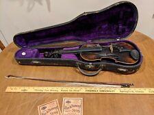 1919 JOHANN HORNSTEINER PASSAU BAYERN 4-STRING VIOLIN W/ BOW & CASE, LABEL