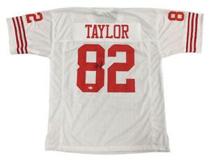 John Taylor Signed San Francisco 49ers Jersey (Beckett COA) 3xSuper Bowl Champ