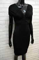 Vestito Donna Guess Marciano Taglia S Slim Abito Tubino Viscosa Nero Dress
