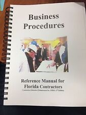 GITS business procedures reference manual for florida contractors