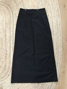 TOAST Black Cotton Skirt - Size 8