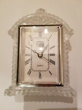 Fifth Avenue Crystal LTD Clock Quartz Battery Operated for Stand, Mantel