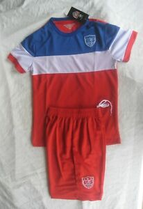 US SOCCER USA Jersey & Shorts Kids Size 24 Red,White & Blue