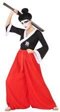 Déguisement Femme Japonaise SAMOURAI Rouge XL 44 Adulte Arts Martiaux NEUF