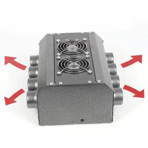 Universal 12V 8-Hole Truck Car Heater Water Heated Radiator Fan Defroster Switch
