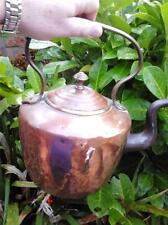 Very attractive antique vintage well made copper kettle with riveted handle