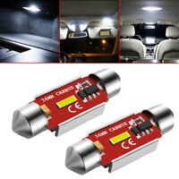 2x  36mm Festoon LED Bulb C5W CANBUS 1860 SMD White Car Interior Dome Map Lights