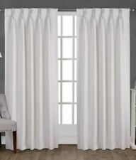 Exclusive Home Sateen Pinch Pleat Woven Blackout Back Tab Curtain Panel Pair