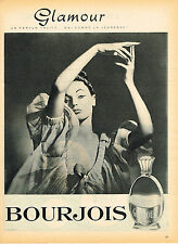 PUBLICITE ADVERTISING 025  1959  BOURJOIS  parfum GLAMOUR