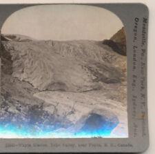 Wapta Glacier Yoho Valley near Fields BC Canada Keystone Stereoview c1910