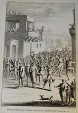 Gravure XVIII° JUBILE JUIF JUBILEE JEWISH YOVEL JUDAICA ISRAEL ISRAELITEZ 1750