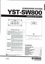Yamaha  service manual  für YST- SW 800  subwoofer