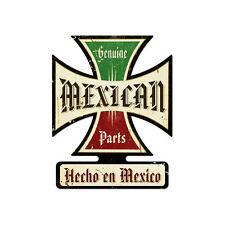 Plasma cut Genuine Mexican parts IRON CROSS Vintage Retrò LAMIERA SCUDO SCUDO NUOVO