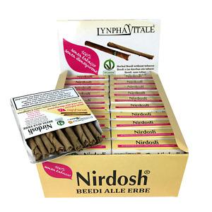 Nirdosh 20 pacchetti da 20 Beedies Senza Filtro - Programma Smettere di fumare