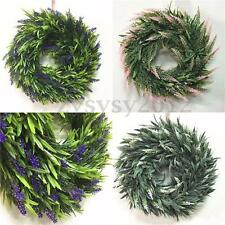Door Hanging Lavender Artificial Flower Wreath Ring Garland Wedding Home Decor