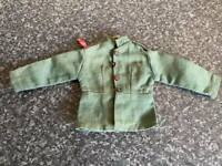 VINTAGE PALITOY/HASBRO ACTION MAN GREEN GERMAN JACKET GOOD FOR AGE