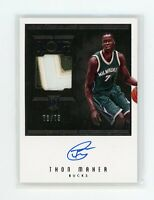 2016-17 Thon Maker 73/75 Auto Patch Panini Noir Autographs Rookie RC #119