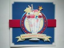 "PAPER MAGIC ~ GLITTER & GEMS ""HAPPY BIRTHDAY TO YOU"" GREETING CARD + ENVELOPE"