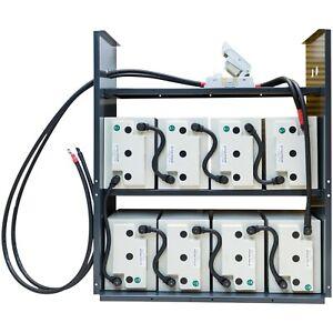 8KWh Hoppecke Energy Storage with Lead Acid Batteries 48V/24V Solar Off Grid