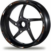 Set laminato 790 Duke Decalcomanie ruote moto Adesivi per cerchi strisce nere