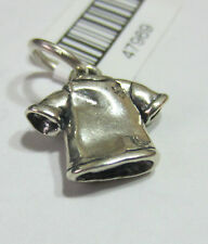 Sterling Silver 925 Charm Pendant - T-Shirt Shirt Clothing - NEW