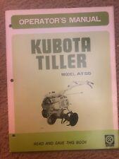 Original Kubota At55 Tiller Operators Manual
