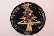 Genuine Austrian Crystal Gold Christmas Tree Christmas Brooch Pin Kurt Adler