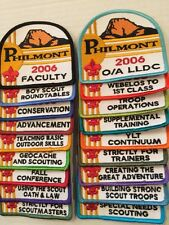 Philmont BSA 2006 Training Conference Set Of 18 Different Patches