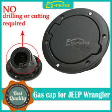For Jeep Wrangler JK 2007-2015 11229.02 Stainless Steel Gas Cap Fuel Cover Door
