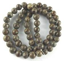 6mm Coffee Snowflake Jasper Round Loose Beads 15""
