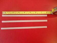 """3 P-tex Ptex rods candles clear / white to repair Ski or Snowboard bases 8"""" long"""