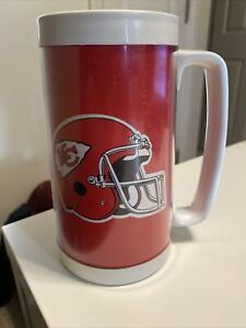 Vintage Thermo Serv Kansas City Chiefs KC Plastic Beer Mug Stein Made in the USA
