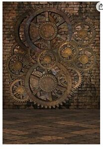 8' x 10' Steampunk Backdrop For Photography or Parties