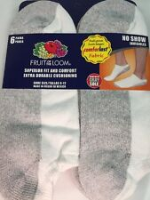 Fruit Of The Loom Men's 6 pair No-Show Socks Size 6-12