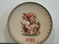 Hummel Plate, 15th Annual Collector Plate, 1985, #278 (Tmk-6) w/ crazing