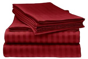 Striped Sheets, 1800 Count 4 Piece Bed Sheet Set - King ~ Queen ~ Full ~Twin
