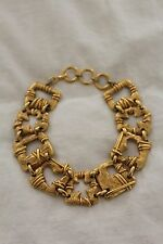 Christian Lacroix Gold Choker Necklace with Heart/Cross Cut-outs