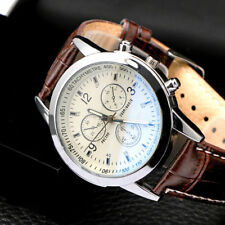 Men's Fashion Casual Business Quartz Watches Analog Wrist Watch Leather Band