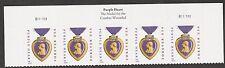 US 5035 Purple Heart Medal forever header strip 5 (2014 date) B111111 MNH 2016