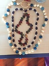 tre collane in pietra dure vintage 900