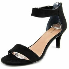 size 11 Style & Co Paycee Black Heel Ankle Strap Sandals Womens Shoes
