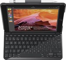 Estuche Para Teclado Logitech Slim Folio iPAD 5th generación Reino Unido Layout A1822 A1823 Negro