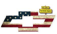 Chevy Bow Tie American Flag Decal/Sticker Vinyl Silverado Chevrolet p74