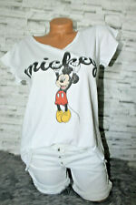 Italy New Collection T-Shirt weiß bunt Mickey Mouse Gr. 36 38 40 42 blogger