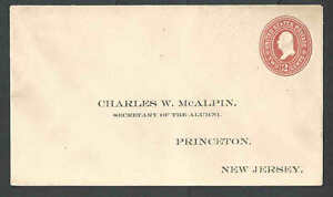 1899 U362 2c Orange On White Mint Entire W/Preprinted Info To Princeton Univ---