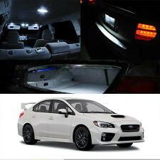 For 2015-Up Subaru WRX/STI White LED Xenon Light Interior Kit Full Package