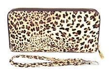 FreshGadgetz Cheetah Snow Leopard Print Purse Wallet for Women Ladies - Brown